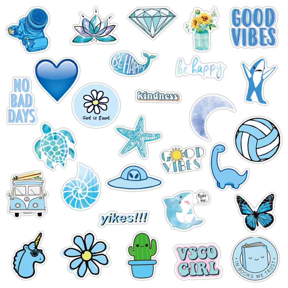 paper-notebooks 50 Pcs Various Beauty Graffiti Stickers Waterproof Decorative Stickers for Suitcase Laptop Guitar Refrigerator HOB1714097 3 1