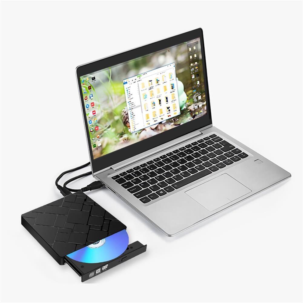 optical-drives External CD DVD Drive USB 3.0 Type-C Portable Slim CD/DVD RW Disc Drive Rewriter Burner Floppy Superdrive Writer/Player for Laptop Desktop PC HOB1714159 3 1