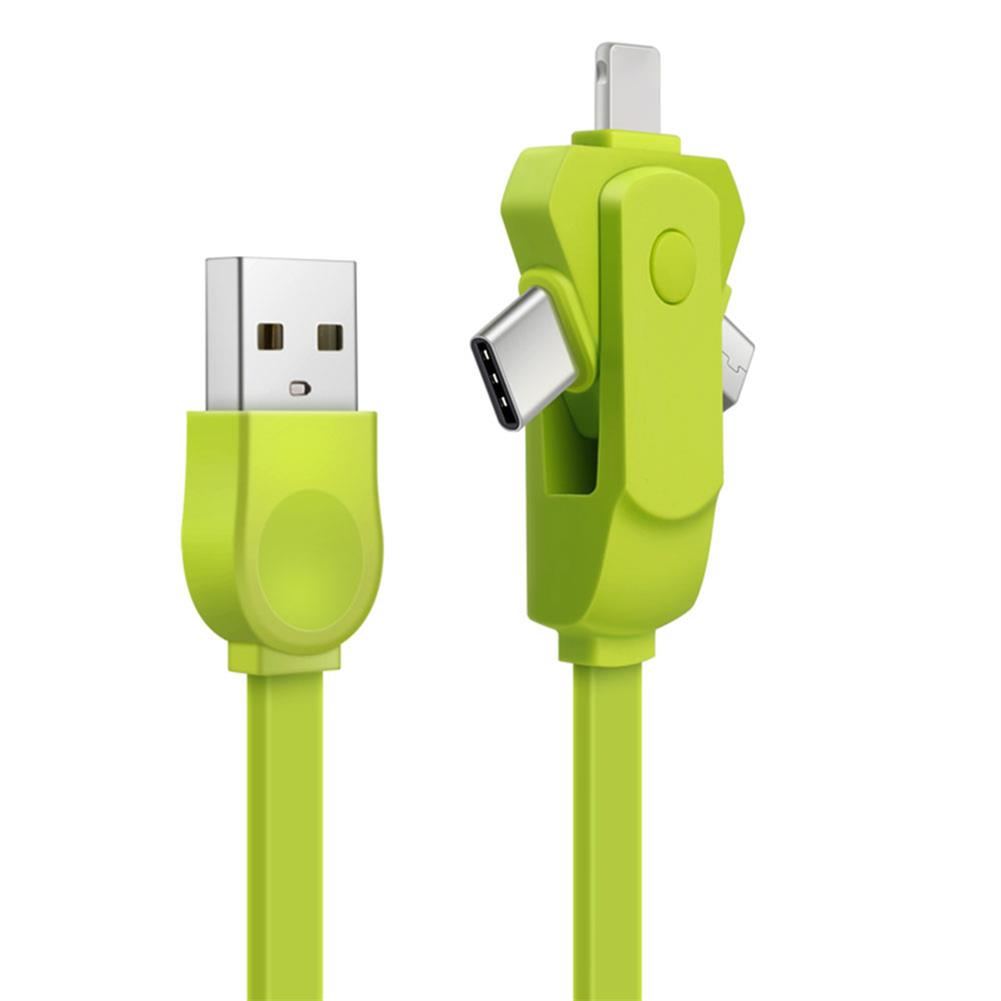 other-accessories 3 in 1 Charging Cable USB Type C & Micro USB & Apple interface Cable 360 Degree Rotating Fast Charging Data Cable for Mobile Phone Tablet Laptop HOB1714771 1 1