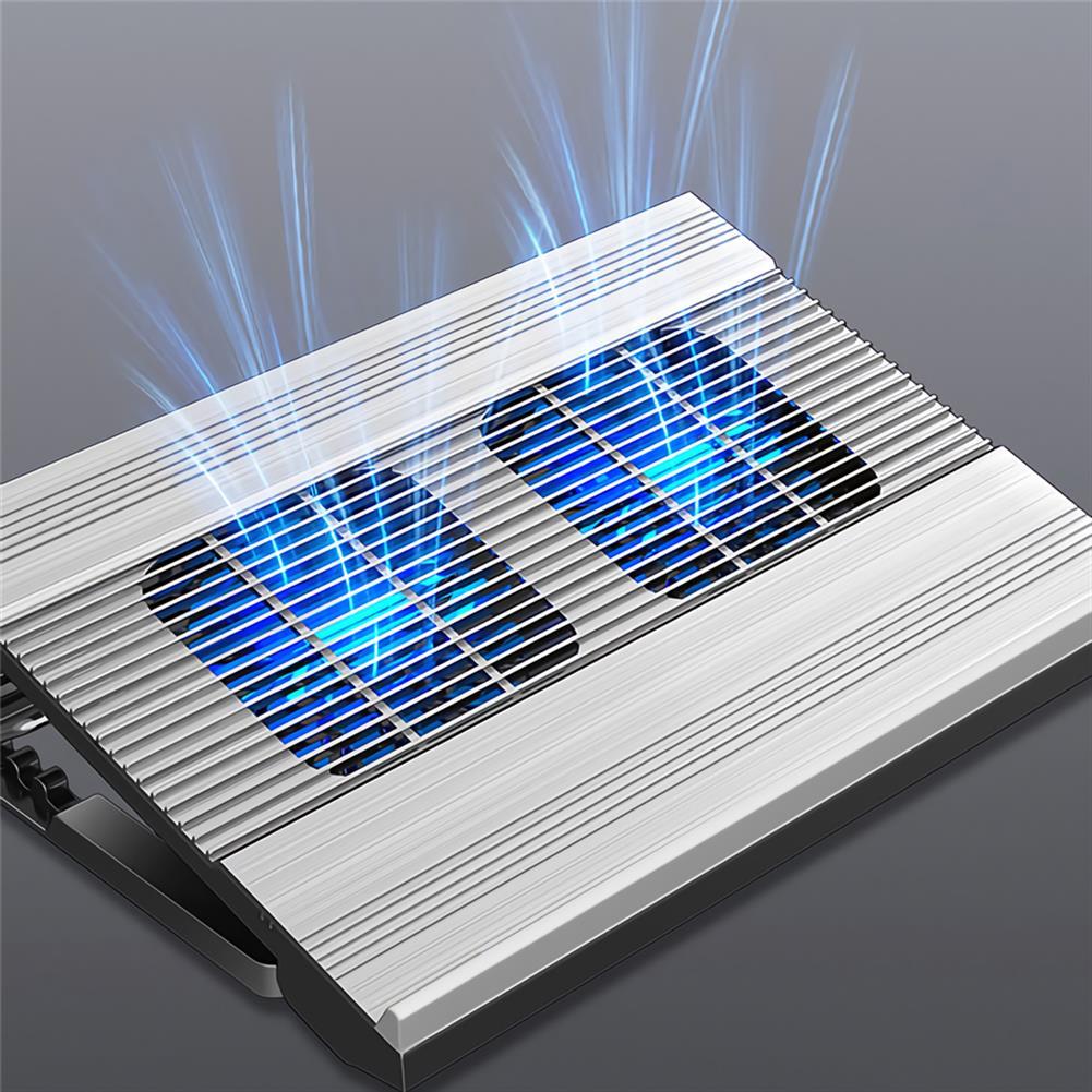 cooling-pads-stands 2 Fans Cooling Stand Holder USB Port Cooler Fits 10-17 inch Laptop Stand Notebook Radiator Computer Base Fan Bracket Pad HOB1717042 1 1