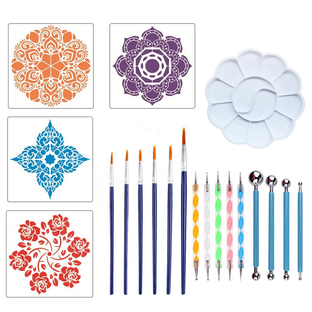 brush Datura Stippling Tool Pen Combination Set 20 Pieces DIY Painted Rock Painting Tools Stationery Art Supplies HOB1717290 1