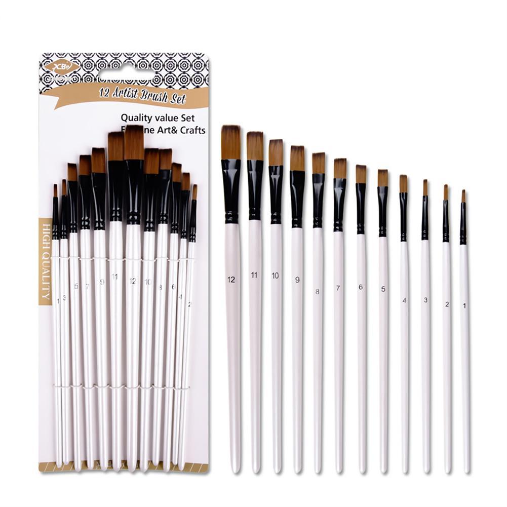 brush 12PCS/Set Artist Paint Brushes Set Oil Watercolour Painting Craft Art Stationery School Students Art Supplies HOB1717459 1 1