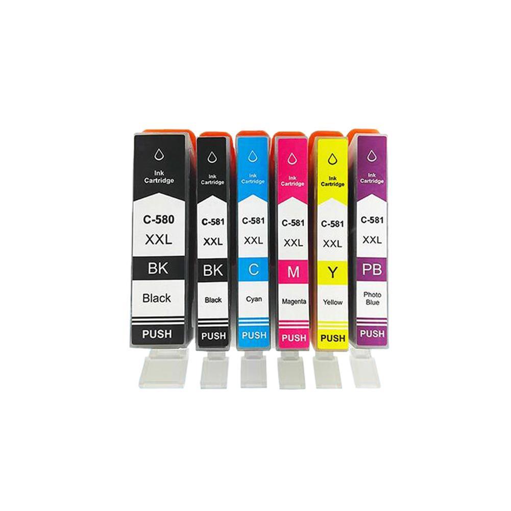 printer-ink-toner MengXiang Compatible C580 C581 ink cartridge Replacement for PIXMA TR7550/TS6150/TS8152/TS9155 Printer HOB1717500 1