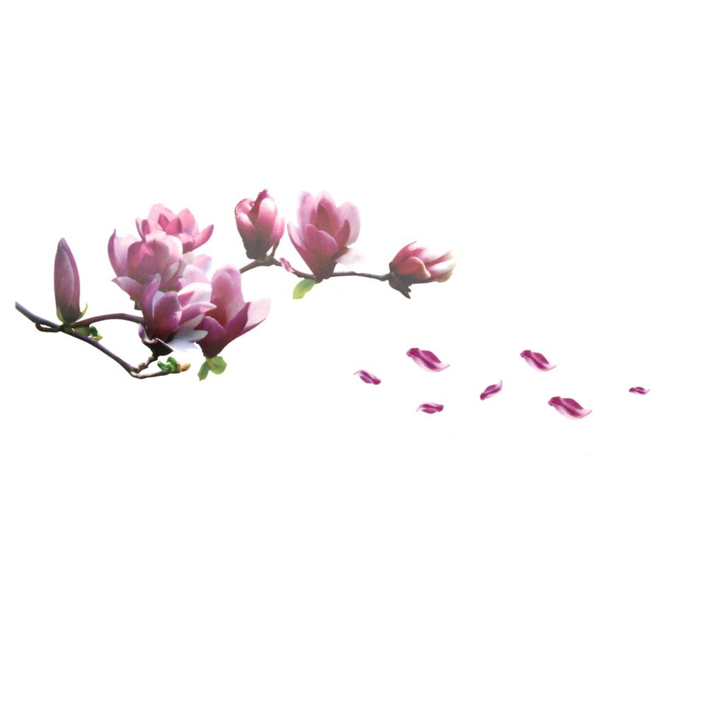 paper-notebooks Magnolia Flower Wall Sticker PVC Waterproof Removable Home office Decor Painting HOB1718991 2 1