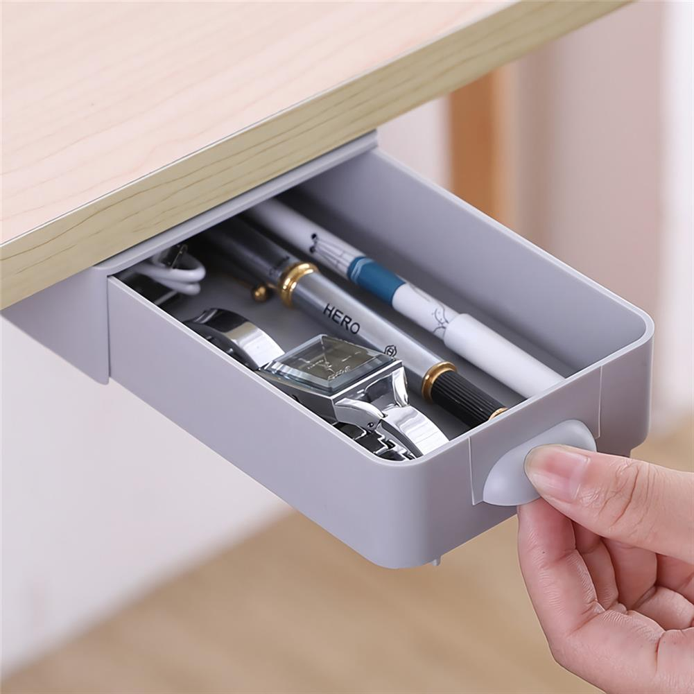 pencil-case Creative Hidden Table Drawer Storage Hidden Paste Style Box office Stationery Storage Adjustable Drawer Organizer for Home office Supplies HOB1719481 2 1