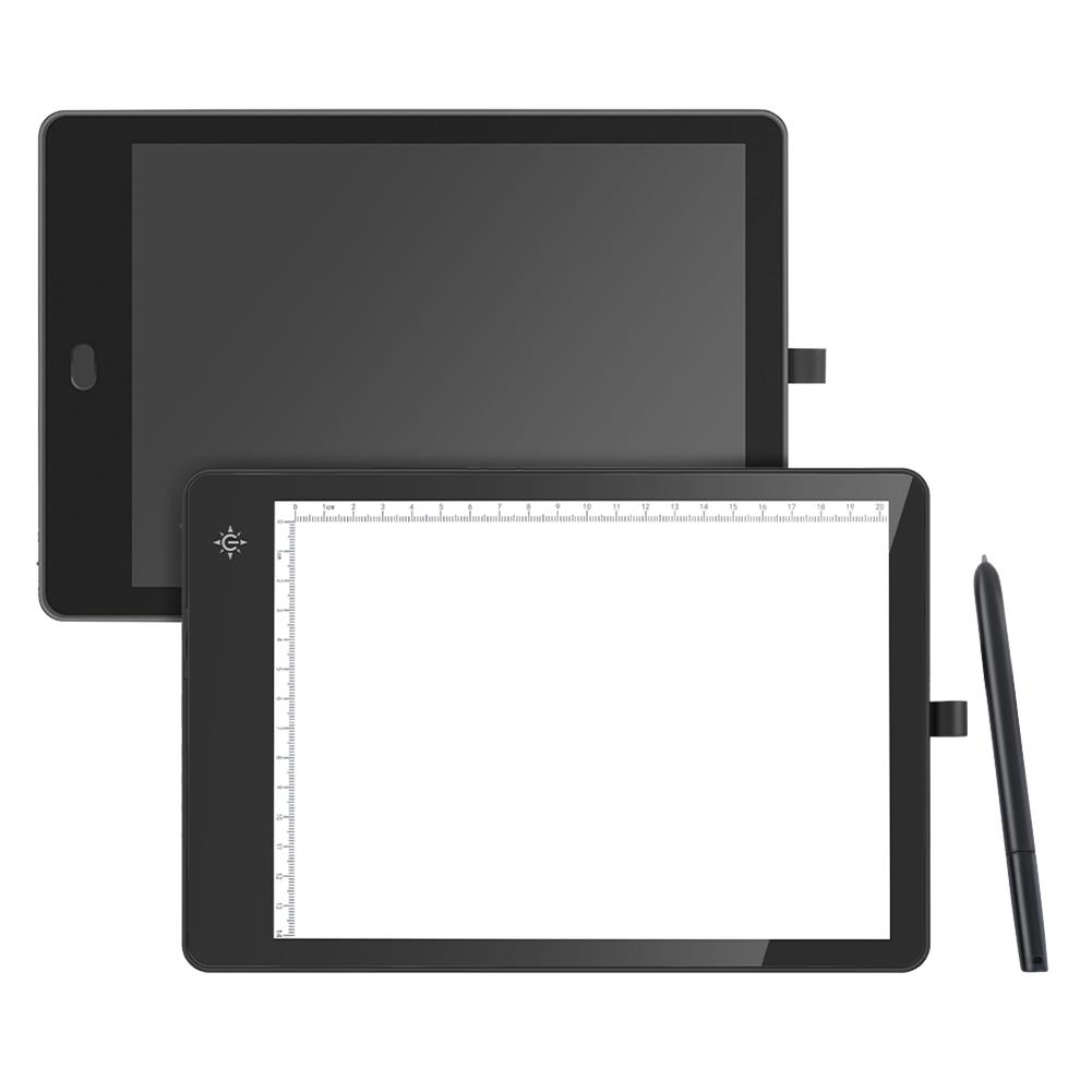 graphics-tablets 11-inch 2-in-1 LCD Copy Board + Writing Board Both Sides Available Painting Drawing Pad Art Graphics Tablet LED Light Tracing Pad for Computer Phone Upgraded Version HOB1719530 1