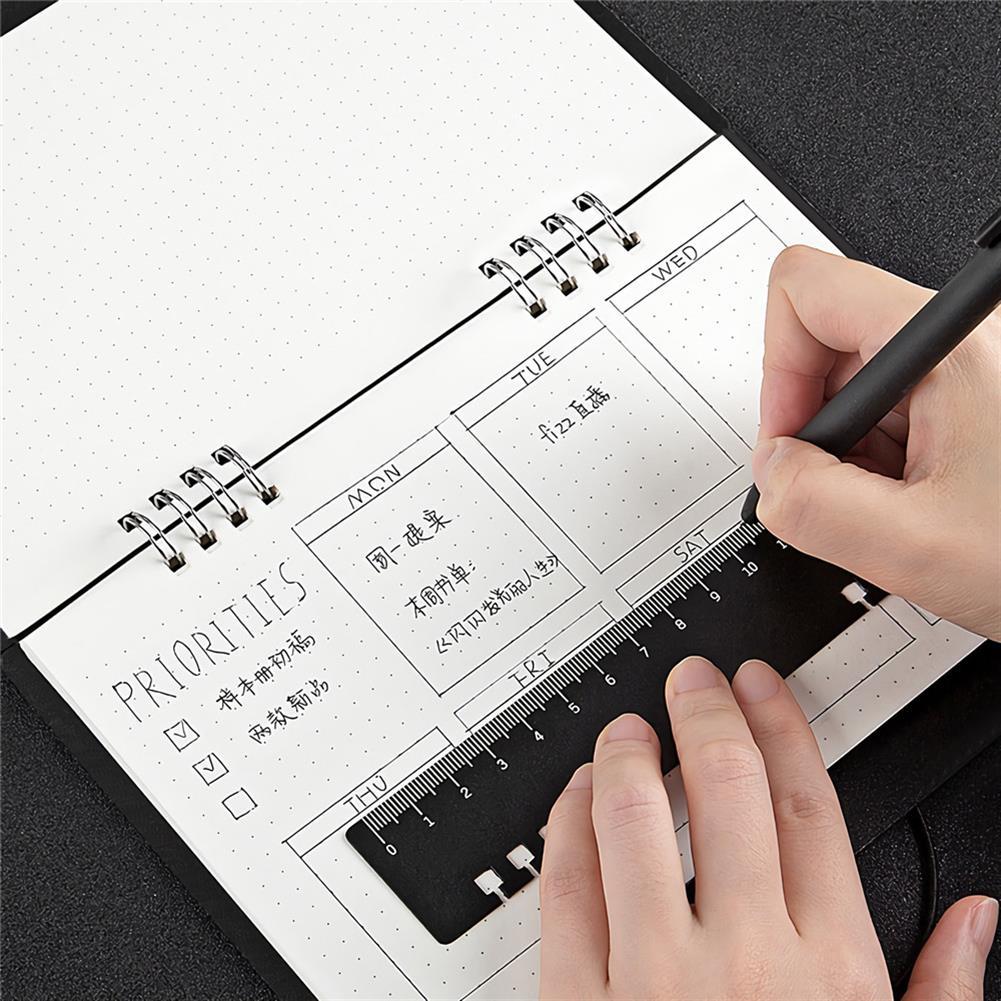 paper-notebooks 2021 Multi Functional Planning Book Schedule Notebook Calendar Desktop Paper Business office School Supplies Multifunctional Bracket with Ruler HOB1720076 2 1
