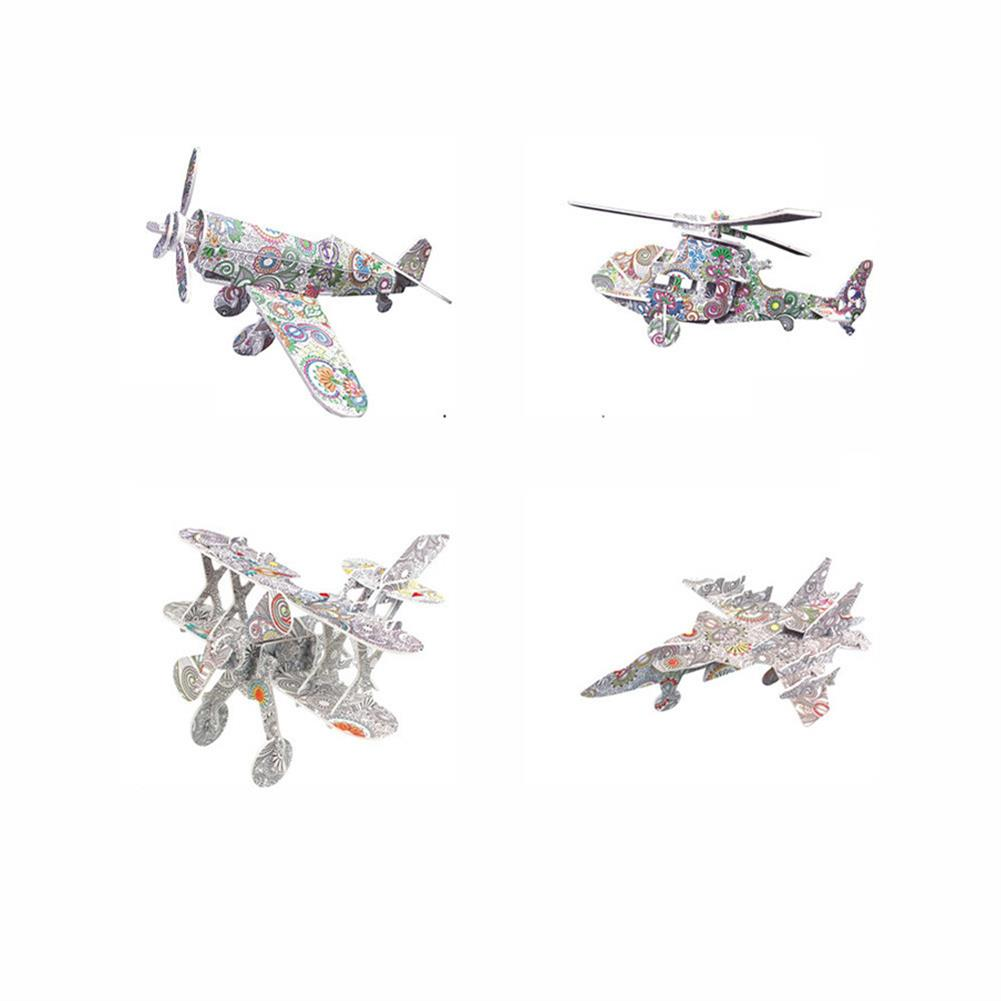 art-kit 3D 3 Dimensional Puzzle with 12Pcs Colorful Pen Children DIY Graffiti Coloring and inserting Toy Model Ornaments Education Toys HOB1720165 1 1
