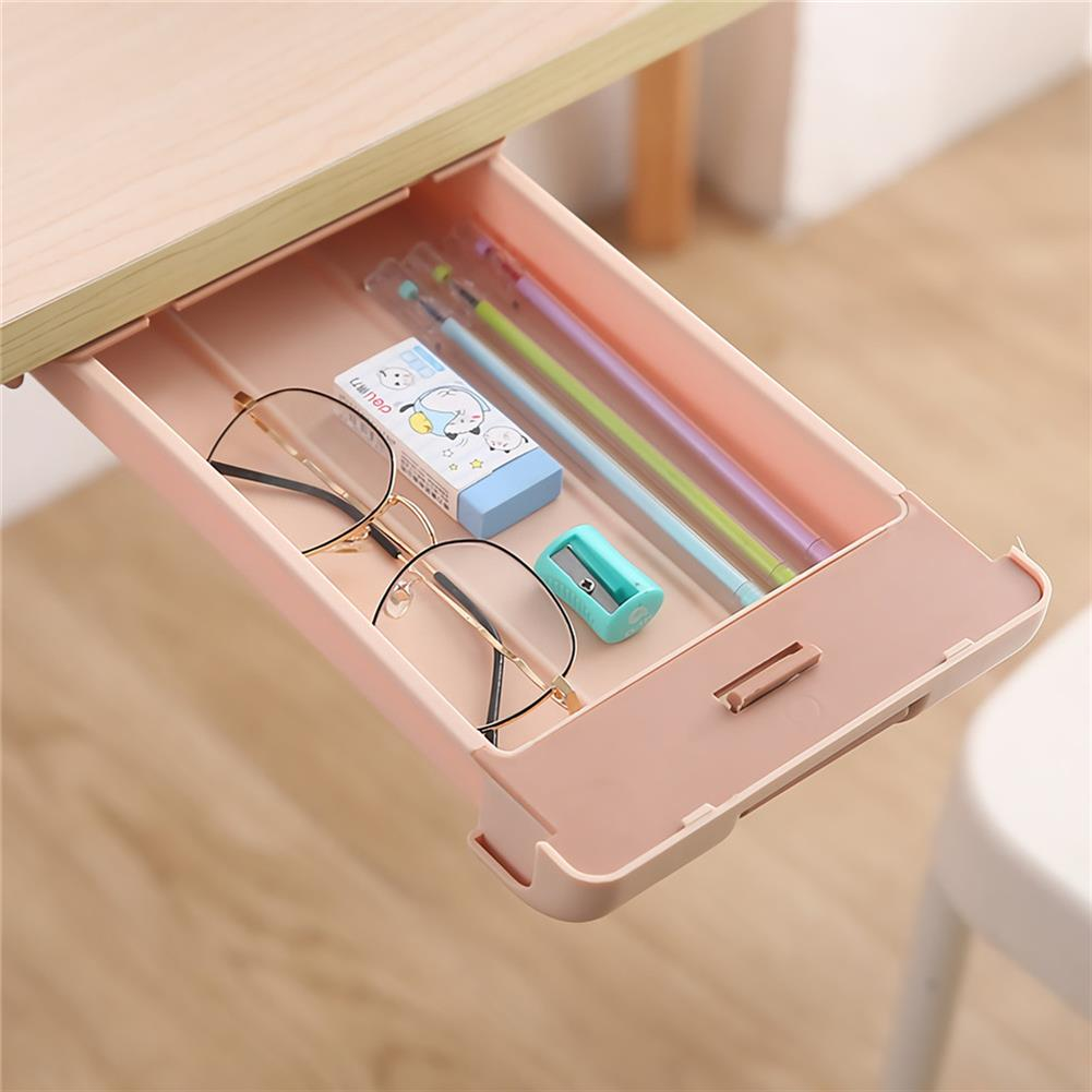 pen-holders, filing Extra Large Pencil Case Under Desk Drawer Storage Paste Table Bottom Box Stationery School Students Supplies HOB1720358 1