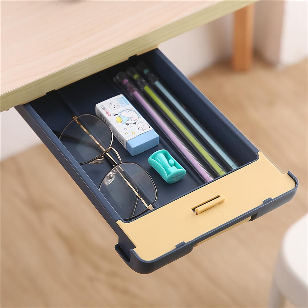 pen-holders, filing Extra Large Pencil Case Under Desk Drawer Storage Paste Table Bottom Box Stationery School Students Supplies HOB1720358 2 1
