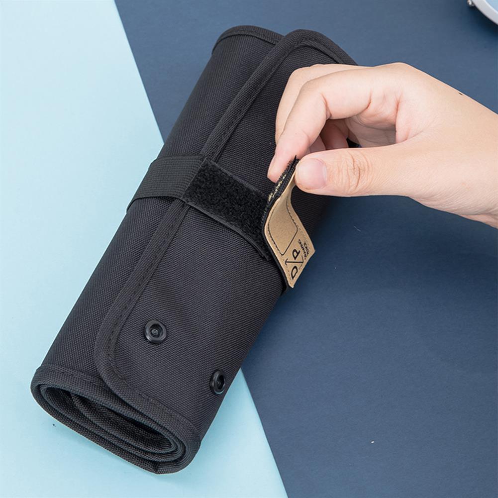 pencil-case Deli 66850 36 Holes Pen Bag Set Painting Pencil Curtain Roll Pen Case Pen Makeup Brush Storage Bag for Student School Supplies HOB1720602 3 1