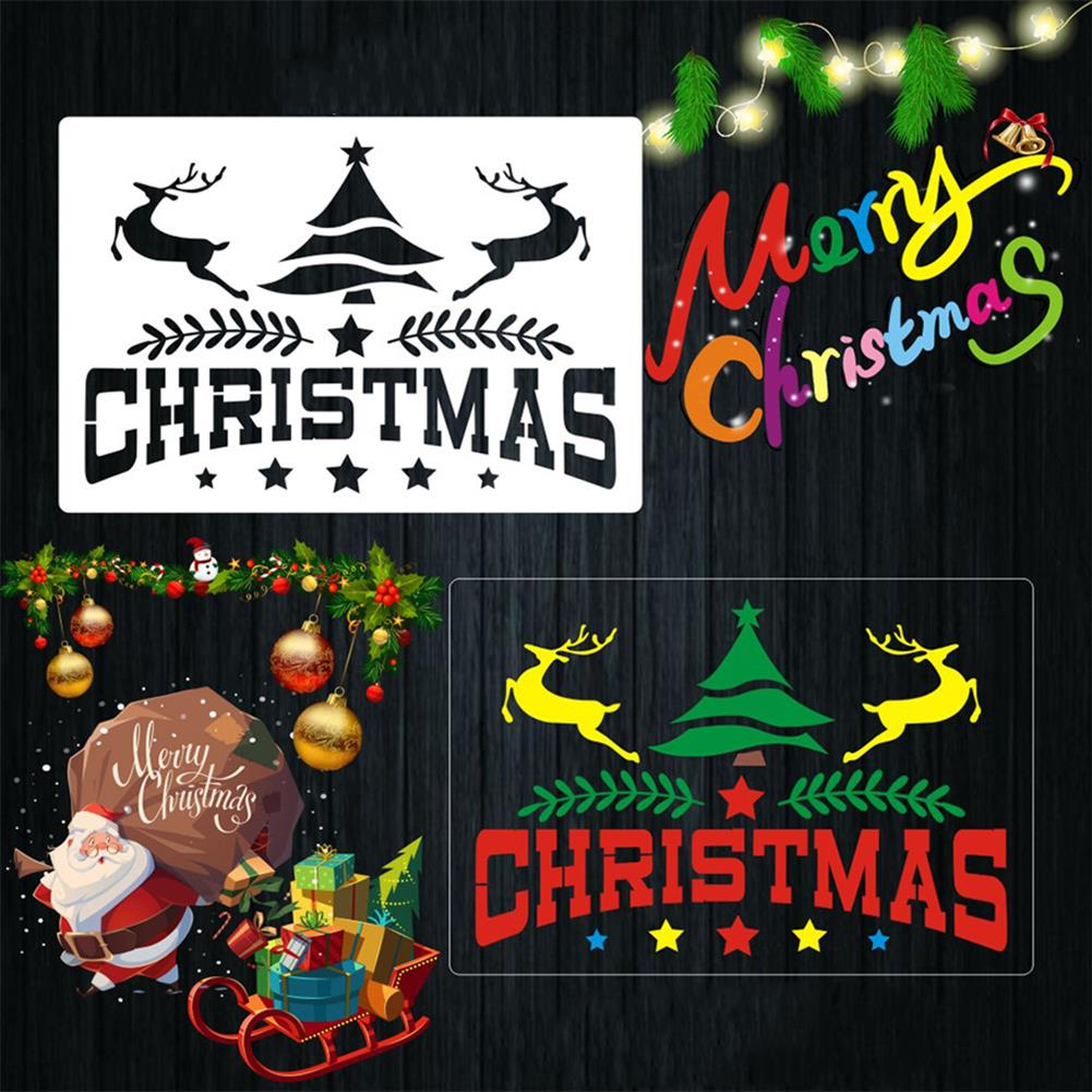 art-kit 16pcs DIY Christmas Hollowed Out Template Painting Set Template Decoration Wall Painting for Adults Kids HOB1720933 3 1