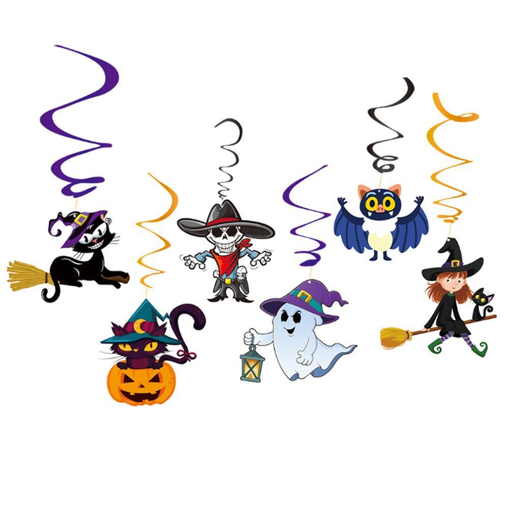 art-kit Halloween Party Decoration Letter Flag Floral Spiral Pendant Children's Party Kindergarten Decoration Supplies HOB1721031 1