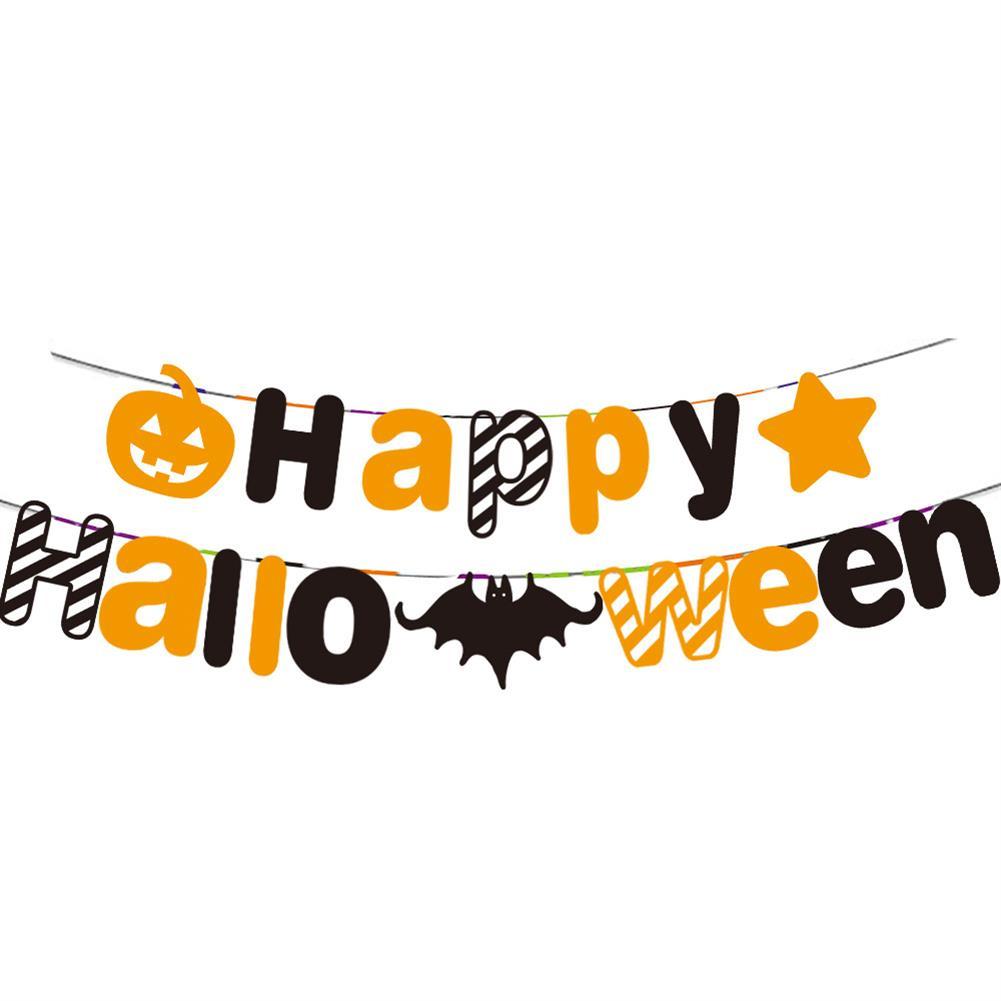 art-kit Halloween Party Decoration Letter Flag Floral Spiral Pendant Children's Party Kindergarten Decoration Supplies HOB1721031 1 1