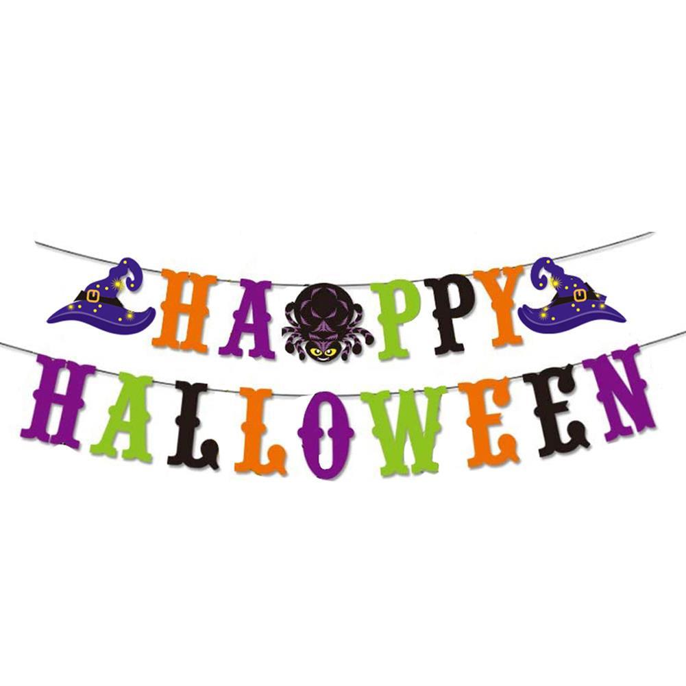 art-kit Halloween Party Decoration Letter Flag Floral Spiral Pendant Children's Party Kindergarten Decoration Supplies HOB1721031 2 1