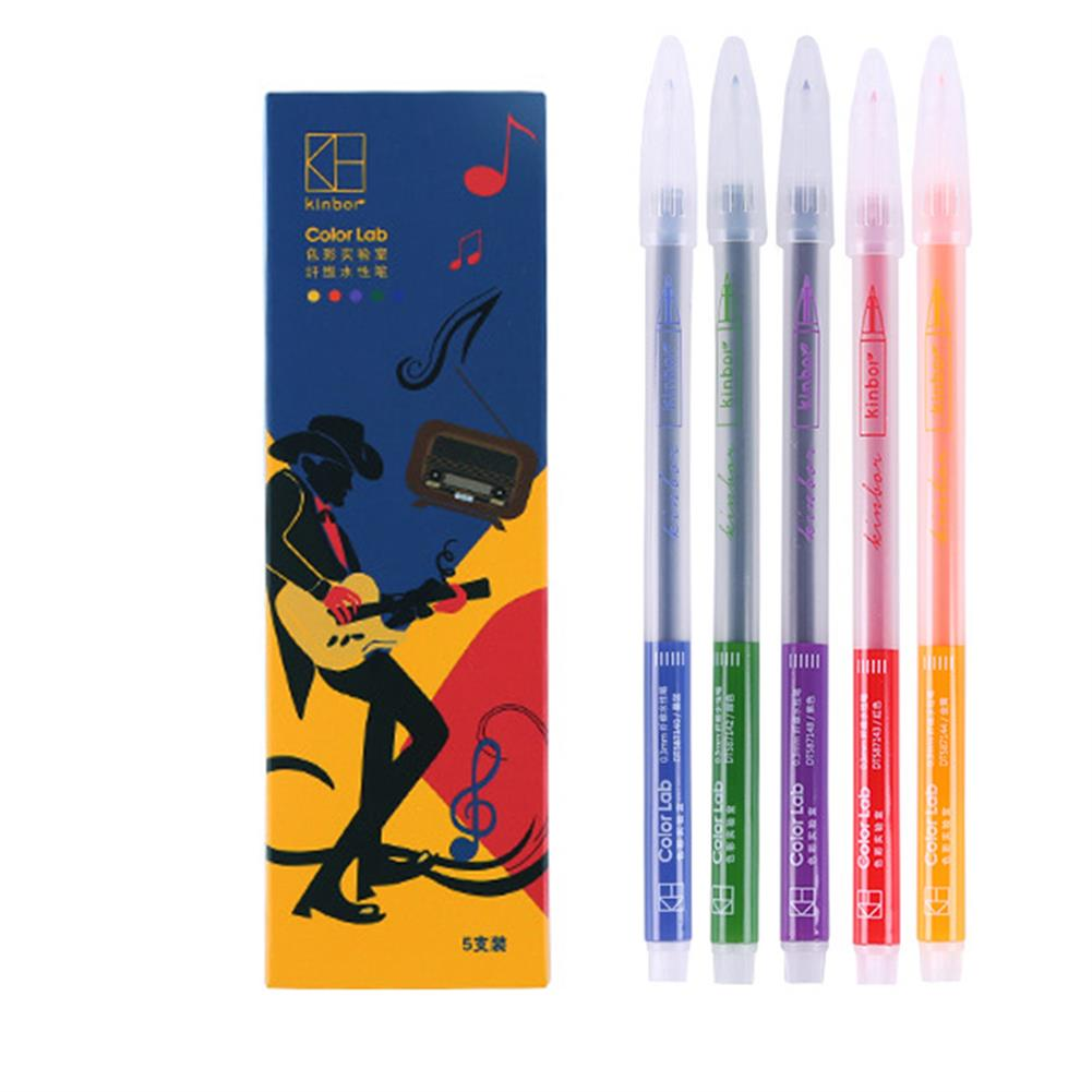 highlighter Kinbor 0.3mm Color Neutral Pen Candy Color Fiber Pen Stationery School Students Business office Writing Supplies HOB1721328 1 1