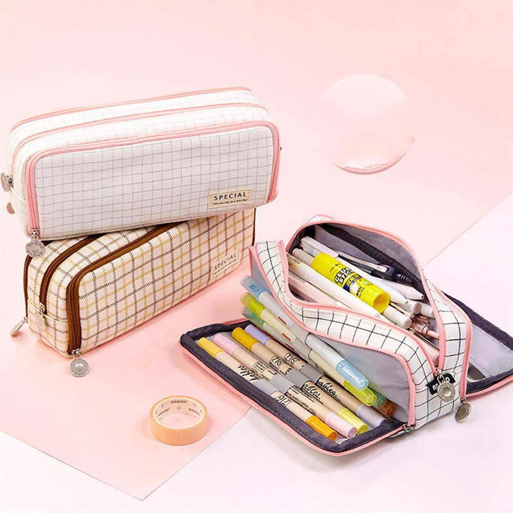 pencil-case Angoo 1 Pcs Double Open Pencil Case Cartoon Stationery Bag Large Capacity Zipper Pencil Case for Student School Supplies HOB1721342 2 1