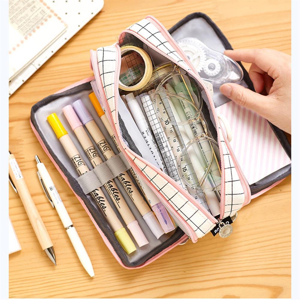 pencil-case Angoo 1 Pcs Double Open Pencil Case Cartoon Stationery Bag Large Capacity Zipper Pencil Case for Student School Supplies HOB1721342 3 1