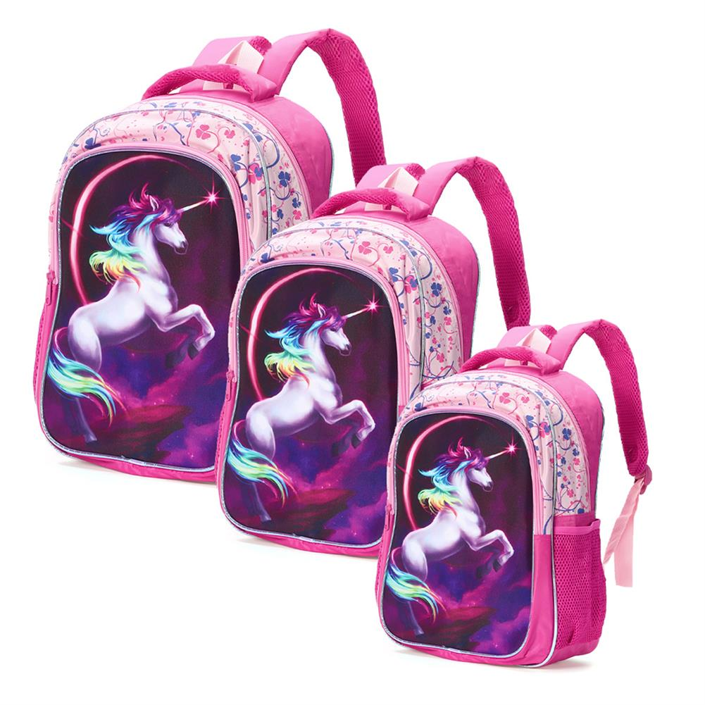 other-learning-office-supplies Backpack 12/14/16 inch Horse-Design Multipurpose Travel Accessories Daypack Casual Schoolbag for Girls HOB1721364 2 1