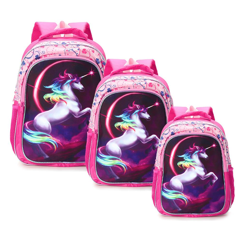 other-learning-office-supplies Backpack 12/14/16 inch Horse-Design Multipurpose Travel Accessories Daypack Casual Schoolbag for Girls HOB1721364 3 1
