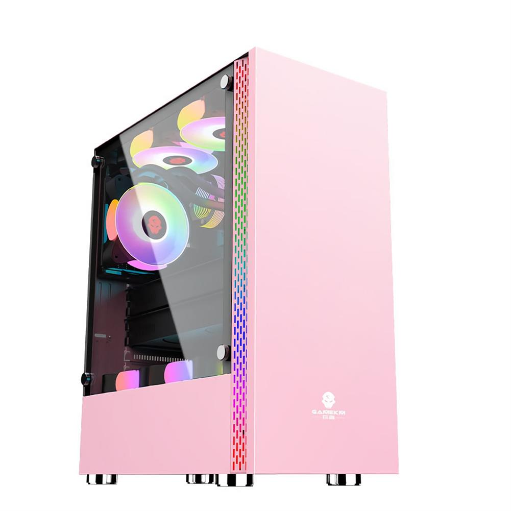 computer-cases-towers Quadratic Element Desktop Computer Case USB3.0 interface Tempered Glass Gaming PC Case Compatible with ATX, ITX, MicroATX HOB1721611 1