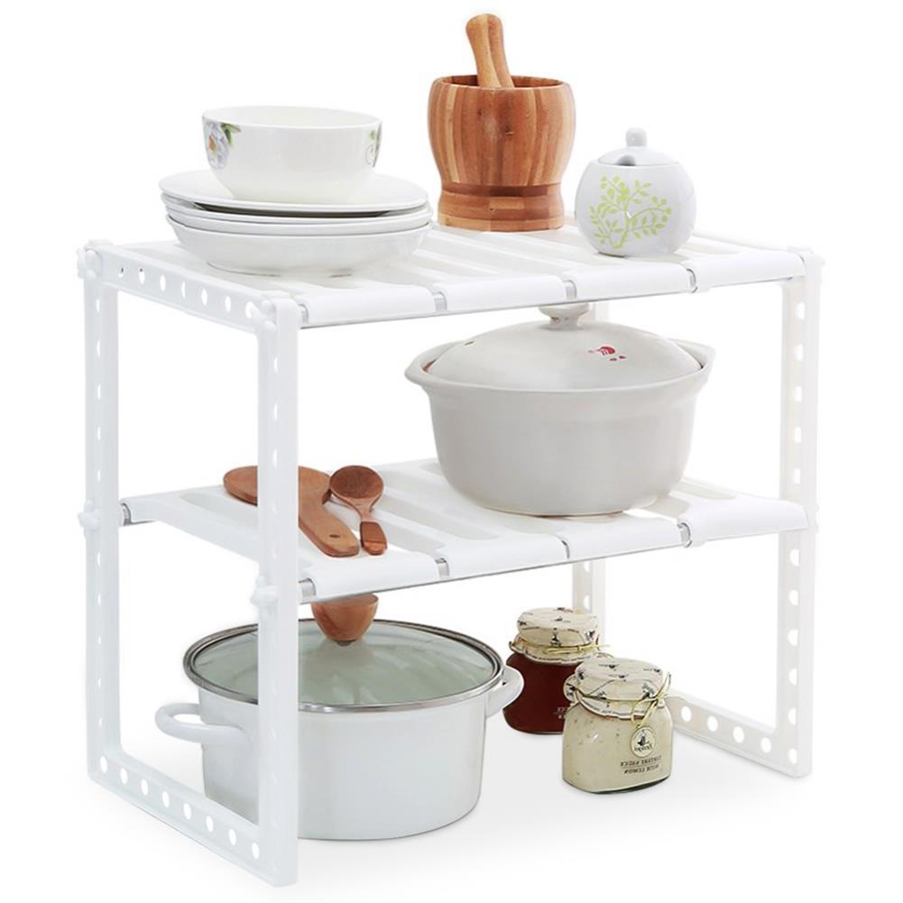 desktop-off-surface-shelves Stainless Steel Shelf Adjustable Removable Multi-layer Storage Rack Home Living Room Kitchen Organiser Unit HOB1722212 1