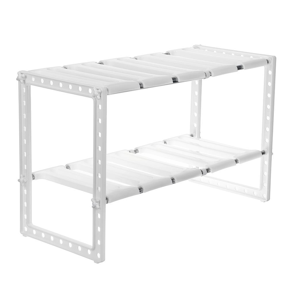 desktop-off-surface-shelves Stainless Steel Shelf Adjustable Removable Multi-layer Storage Rack Home Living Room Kitchen Organiser Unit HOB1722212 1 1