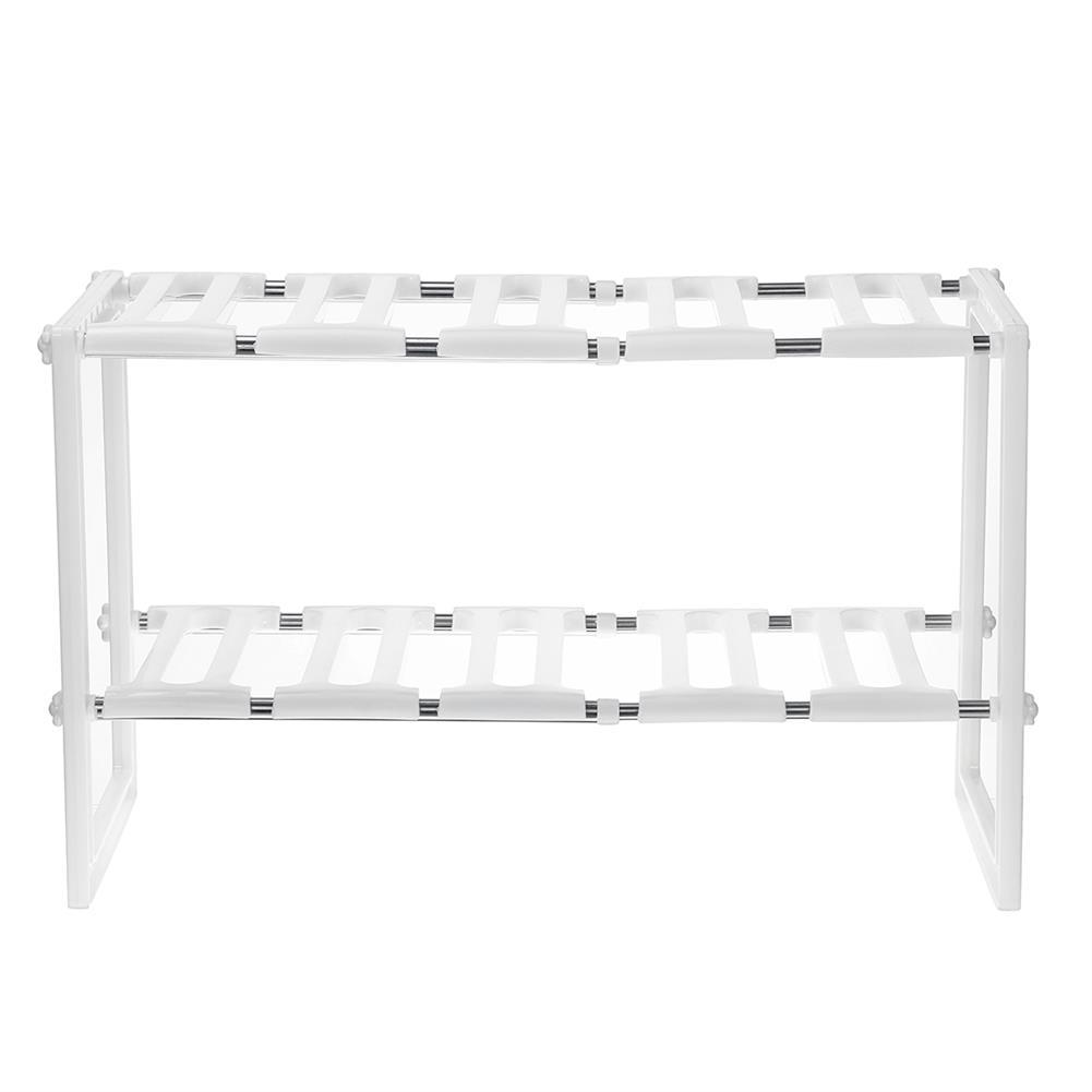desktop-off-surface-shelves Stainless Steel Shelf Adjustable Removable Multi-layer Storage Rack Home Living Room Kitchen Organiser Unit HOB1722212 2 1