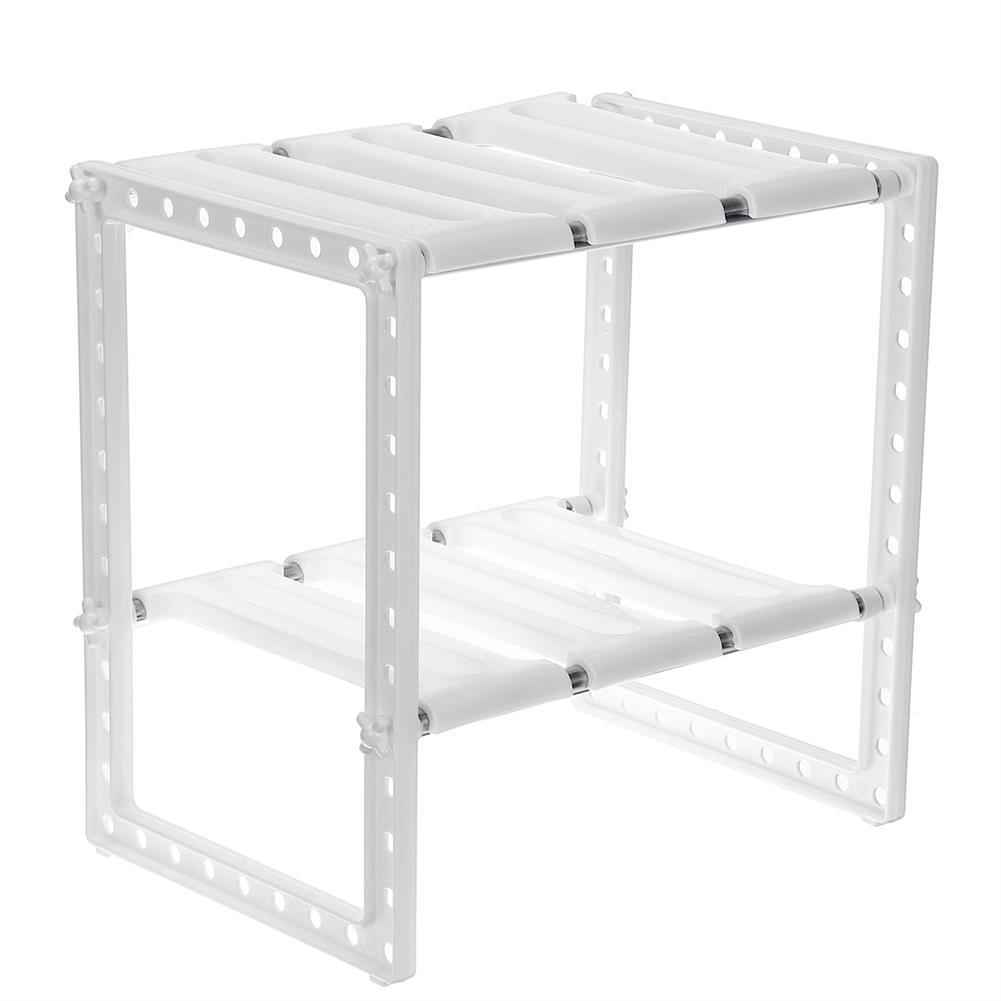 desktop-off-surface-shelves Stainless Steel Shelf Adjustable Removable Multi-layer Storage Rack Home Living Room Kitchen Organiser Unit HOB1722212 3 1