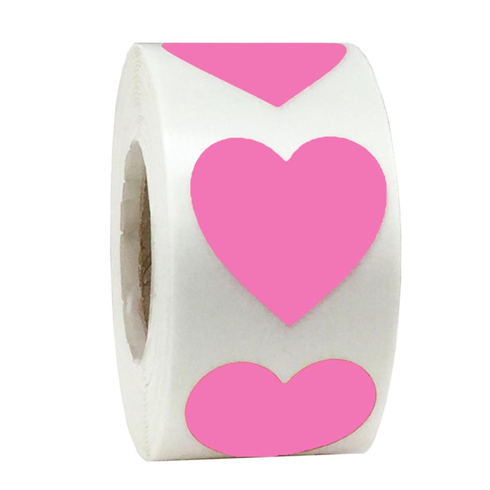 stationery-tape Heart Shape of Red Stickers Seal Labels 500Pcs/roll Labels Stickers Scrapbooking Package Wedding Decoration Stationery Sticker HOB1722250 2 1