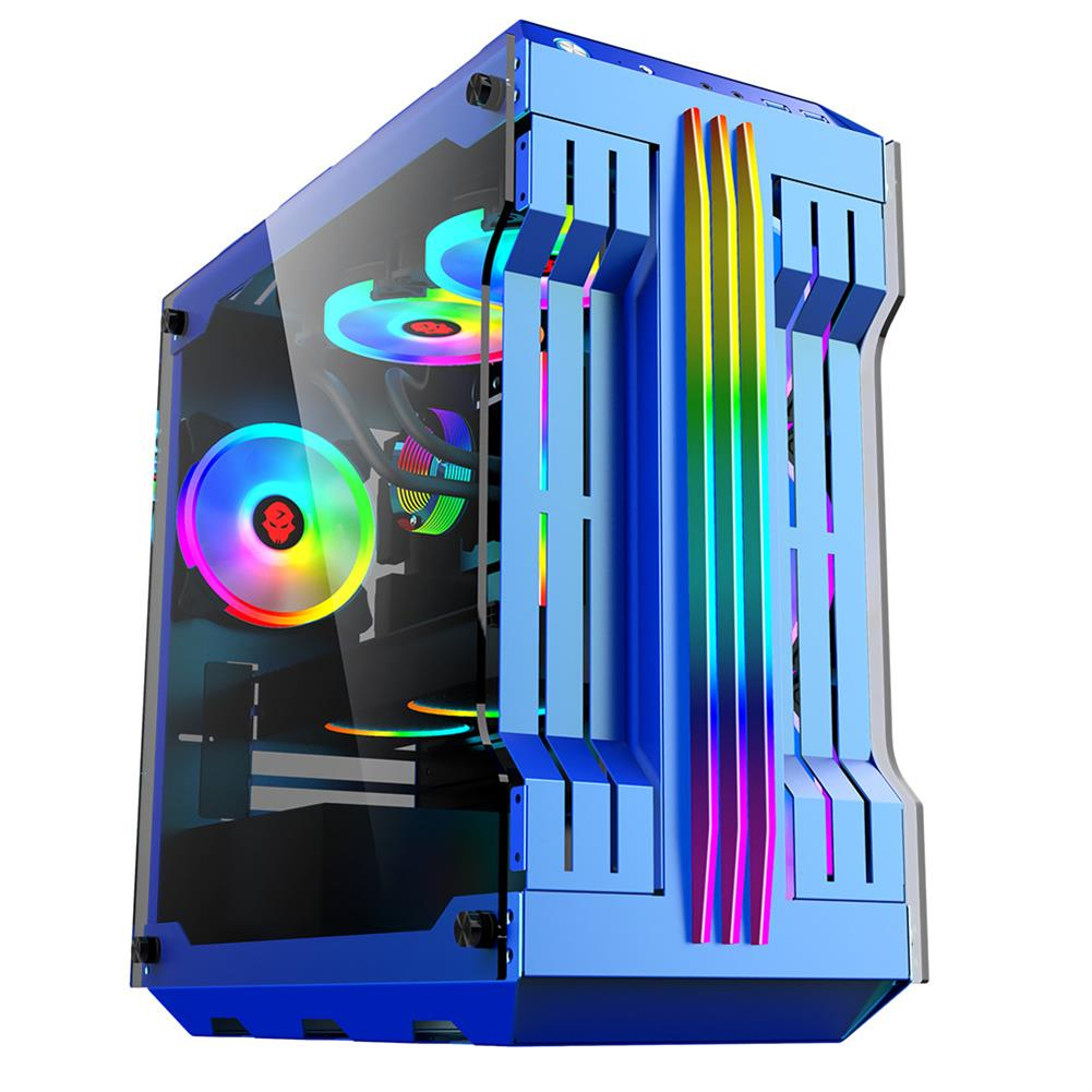 computer-cases-towers RGB Light Bar Computer Case Tempered Glass Panels ATX Gaming Water Cooling PC Case E-Sports online Cafe Desktop Game Supplies HOB1722840 3 1