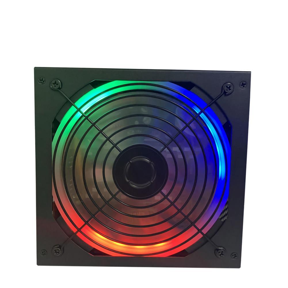 pc-power-supplies 600W RGB PC Power Supply Multicolor Fan 8 Pin ATX 12V Energy Saving Mute Computer Power Supply Desktop Gaming Power HOB1723028 2 1