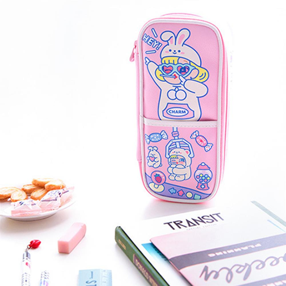 pencil-case Bentoy QT3282 Large Capacity Pencil Case Cute Cartoon Pencil Bag with Partition Stationery Gift for Children Students HOB1723640 2 1