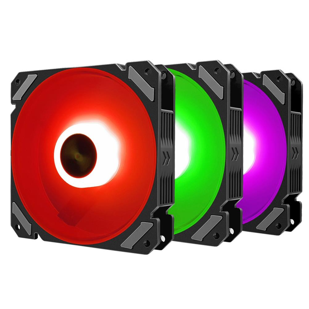fans-cooling Coolmoon 6PCS 120mm RGB PC Fans Control Music Rhythm Monochromatic Light Adjustable Cooling Fan with the Remote Control HOB1723734 3 1