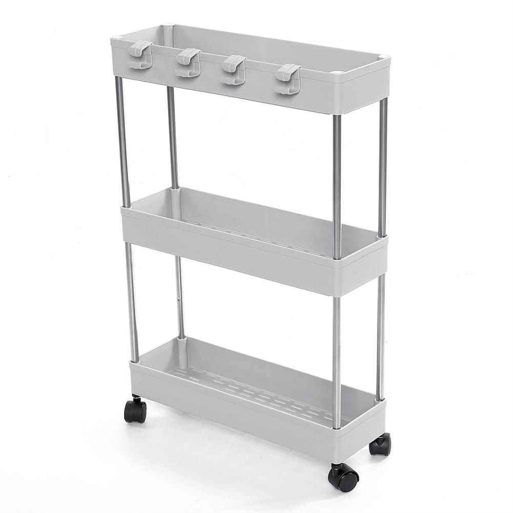 desktop-off-surface-shelves 3/4 Tiers Slim Trolley Storage Holder Rack Desktop Organizer Kitchen Bathroom HOB1724106 1