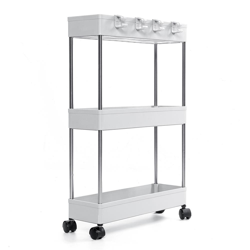 desktop-off-surface-shelves 3/4 Tiers Slim Trolley Storage Holder Rack Desktop Organizer Kitchen Bathroom HOB1724106 1 1