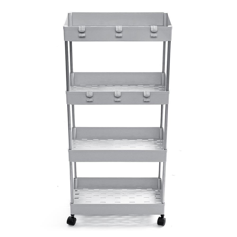 desktop-off-surface-shelves 3/4 Tiers Slim Trolley Storage Holder Rack Desktop Organizer Kitchen Bathroom HOB1724106 2 1