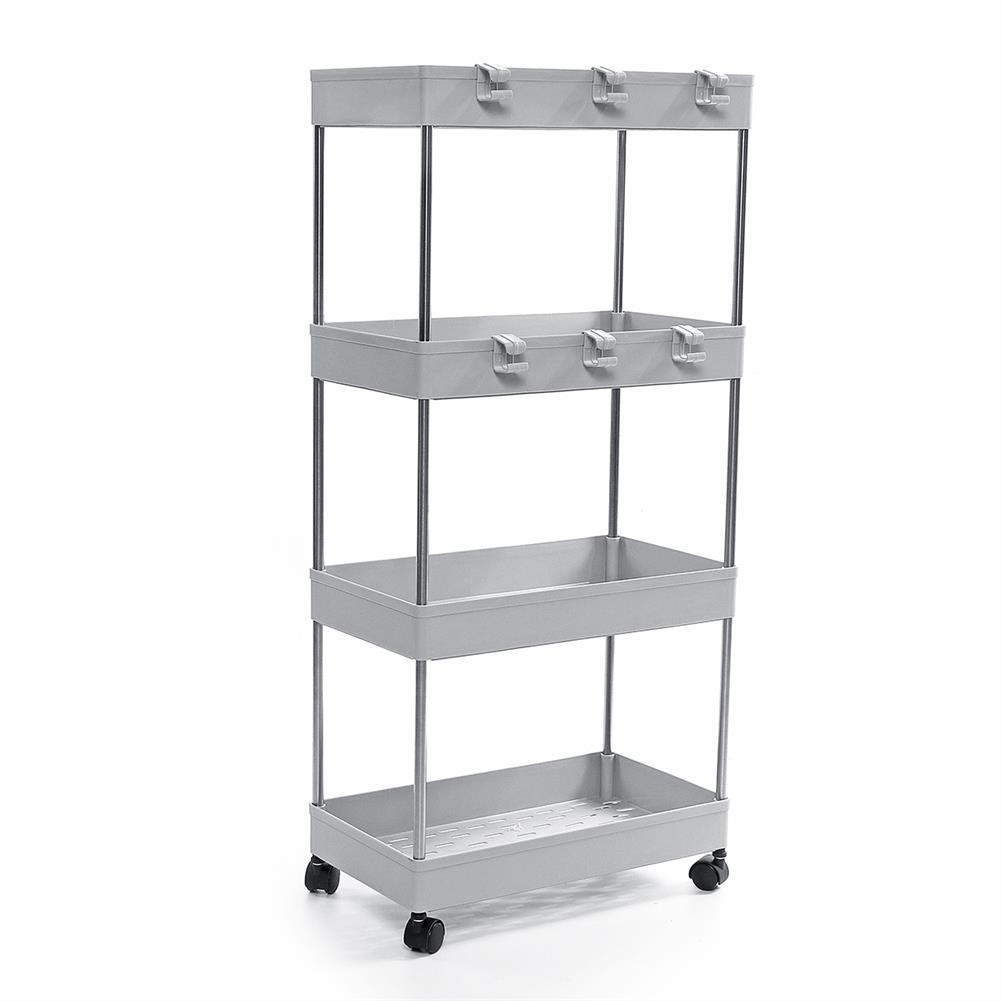 desktop-off-surface-shelves 3/4 Tiers Slim Trolley Storage Holder Rack Desktop Organizer Kitchen Bathroom HOB1724106 3 1