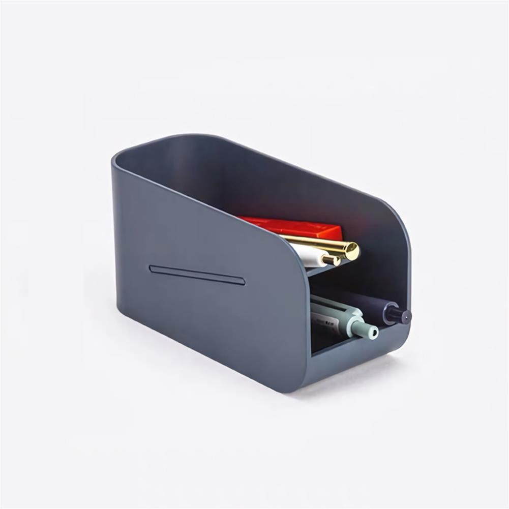pen-holders, filing Creative Double Layer Magnetic Pen Holder Desk Plastic Organizer Storage Box Stationery School office Accessories Supplies HOB1724392 3 1