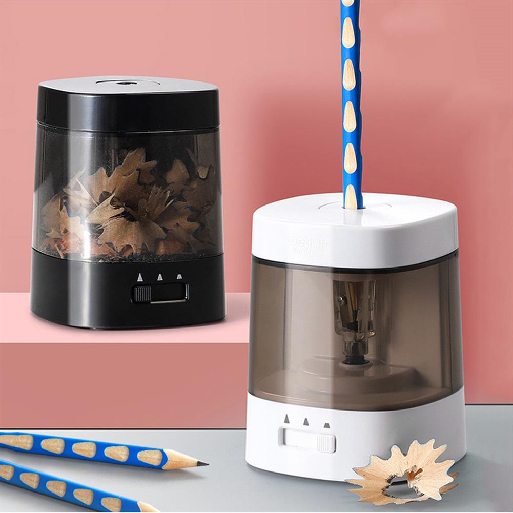 pencil-sharpener Deli 68659 Automatic Pencil Sharpener Electric Touch Switch Pencil Sharpener stationery office School Artists Children Colored Pencils Supplies White HOB1724701 3 1