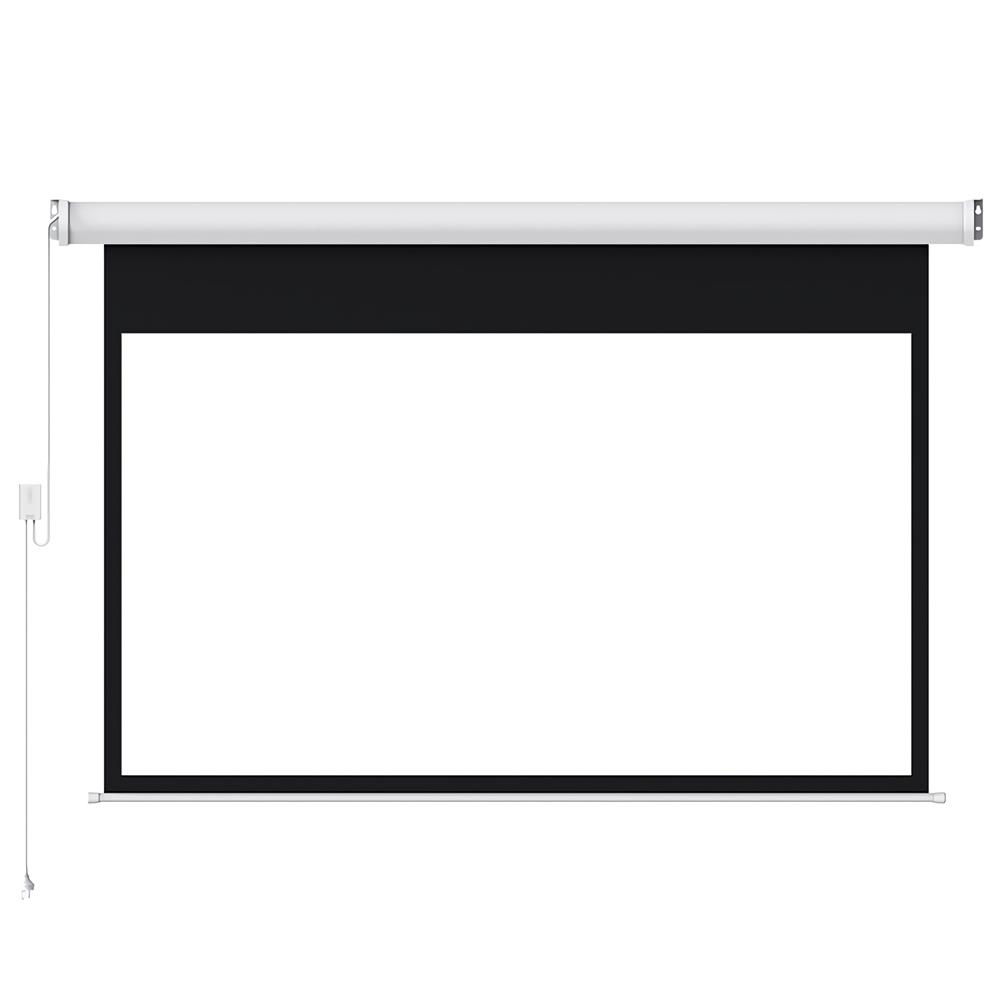projector-screens Fengmi Electric Motorized Projector Screen 100-inch Coated White Plastic 16:9 4K Support 3D Projector with Remote Control Up Down for Home theater office Classroom From XM HOB1724786 1