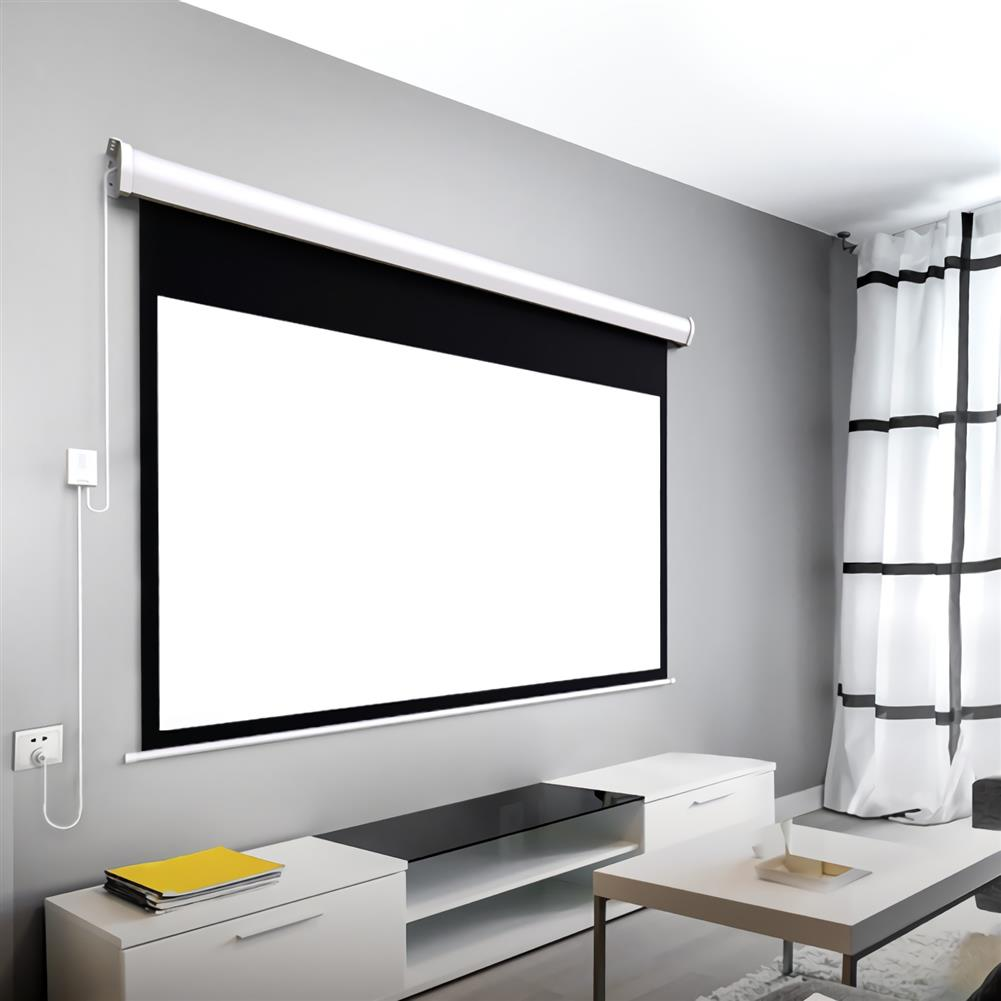 projector-screens Fengmi Electric Motorized Projector Screen 100-inch Coated White Plastic 16:9 4K Support 3D Projector with Remote Control Up Down for Home theater office Classroom From XM HOB1724786 1 1