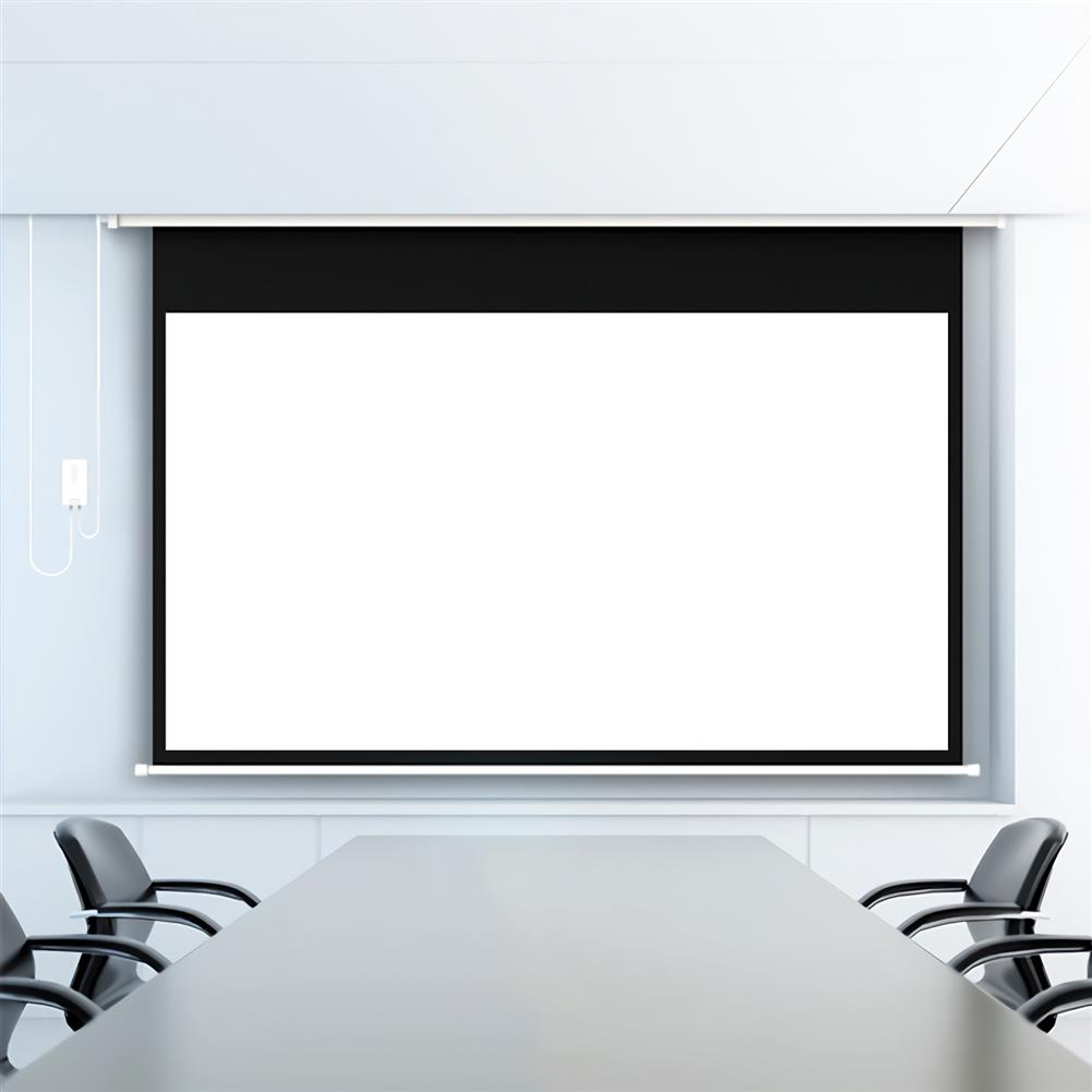 projector-screens Fengmi Electric Motorized Projector Screen 100-inch Coated White Plastic 16:9 4K Support 3D Projector with Remote Control Up Down for Home theater office Classroom From XM HOB1724786 2 1
