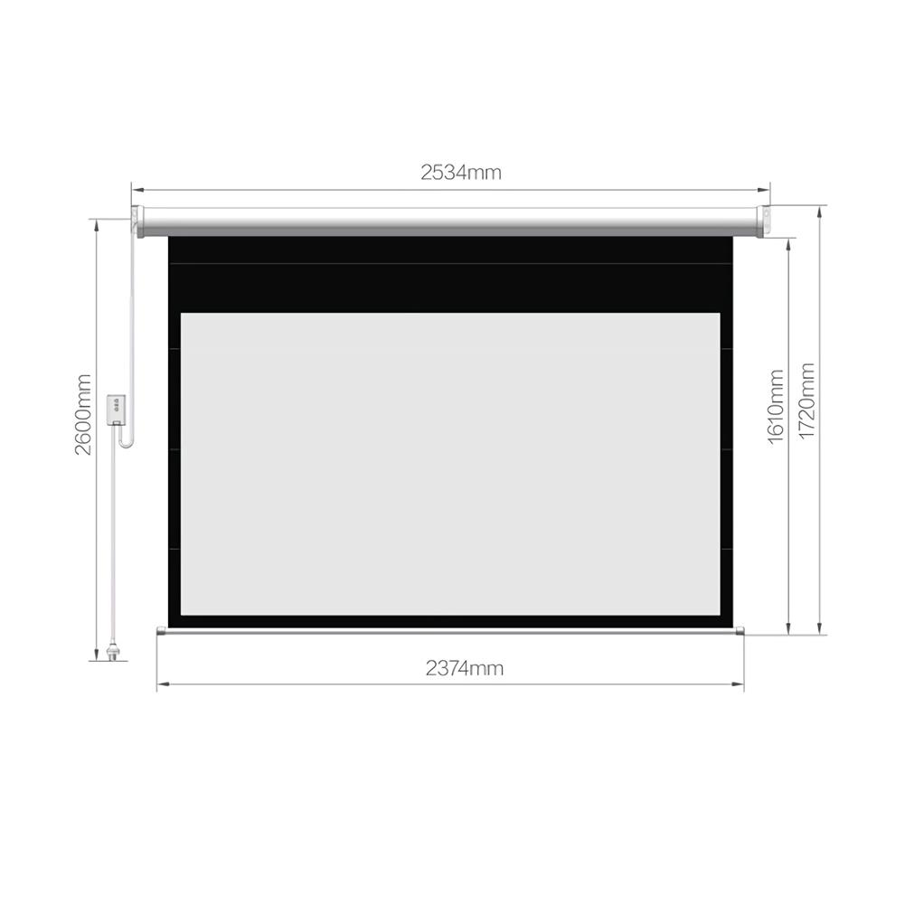 projector-screens Fengmi Electric Motorized Projector Screen 100-inch Coated White Plastic 16:9 4K Support 3D Projector with Remote Control Up Down for Home theater office Classroom From XM HOB1724786 3 1