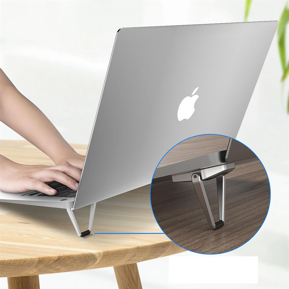 laptop-stands R-JUST RJFS01 Folding Laptop Stand Cooling Bracket Small Metal Laptop Computer Elevated Portable Heat Sink HOB1725109 1 1