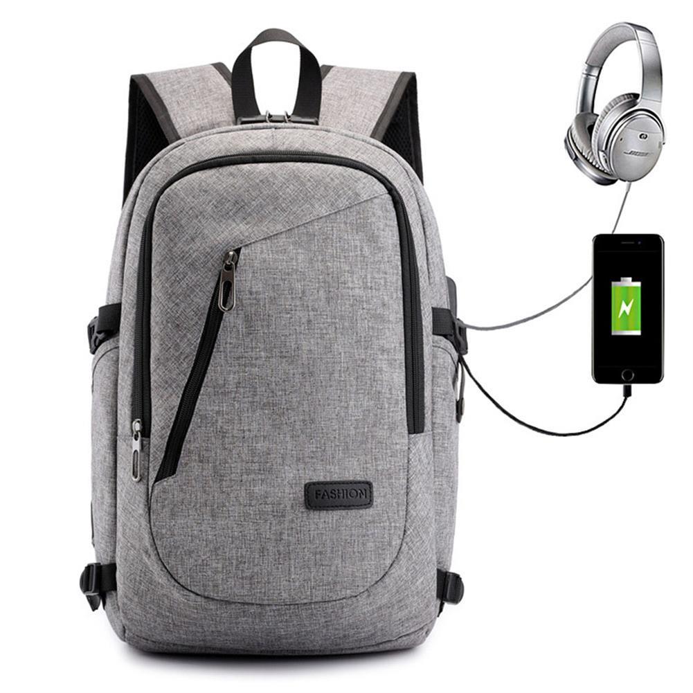 laptop-bags, cases-sleeves USB Charging Backpack Laptop Bag Leisure Business Backpack Multi Function Security Bag for Men/Women Schoolbag HOB1725250 2 1