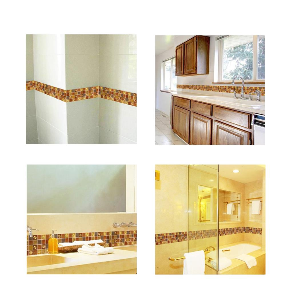 paper-notebooks 3D Self Adhesive Waterproof Wallpaper Border Peel and Stick for Bathroom Kitchen Counter Top Tiles Sticker HOB1725407 2 1