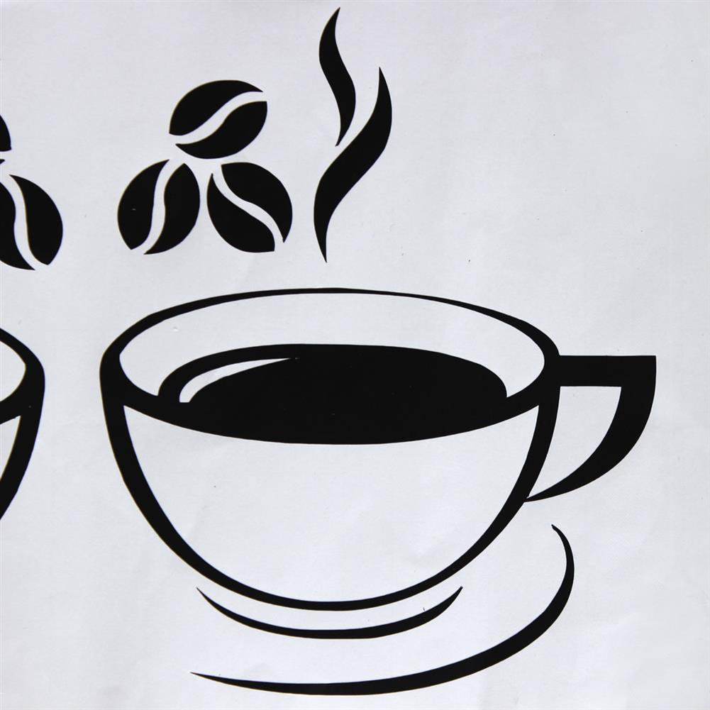 paper-notebooks Double Coffee Cups Wall Stickers Waterproof Vinyl Adhesive Art Wall Decals Coffee Shop Kitchen Home office Decorations Accessories HOB1725412 2 1