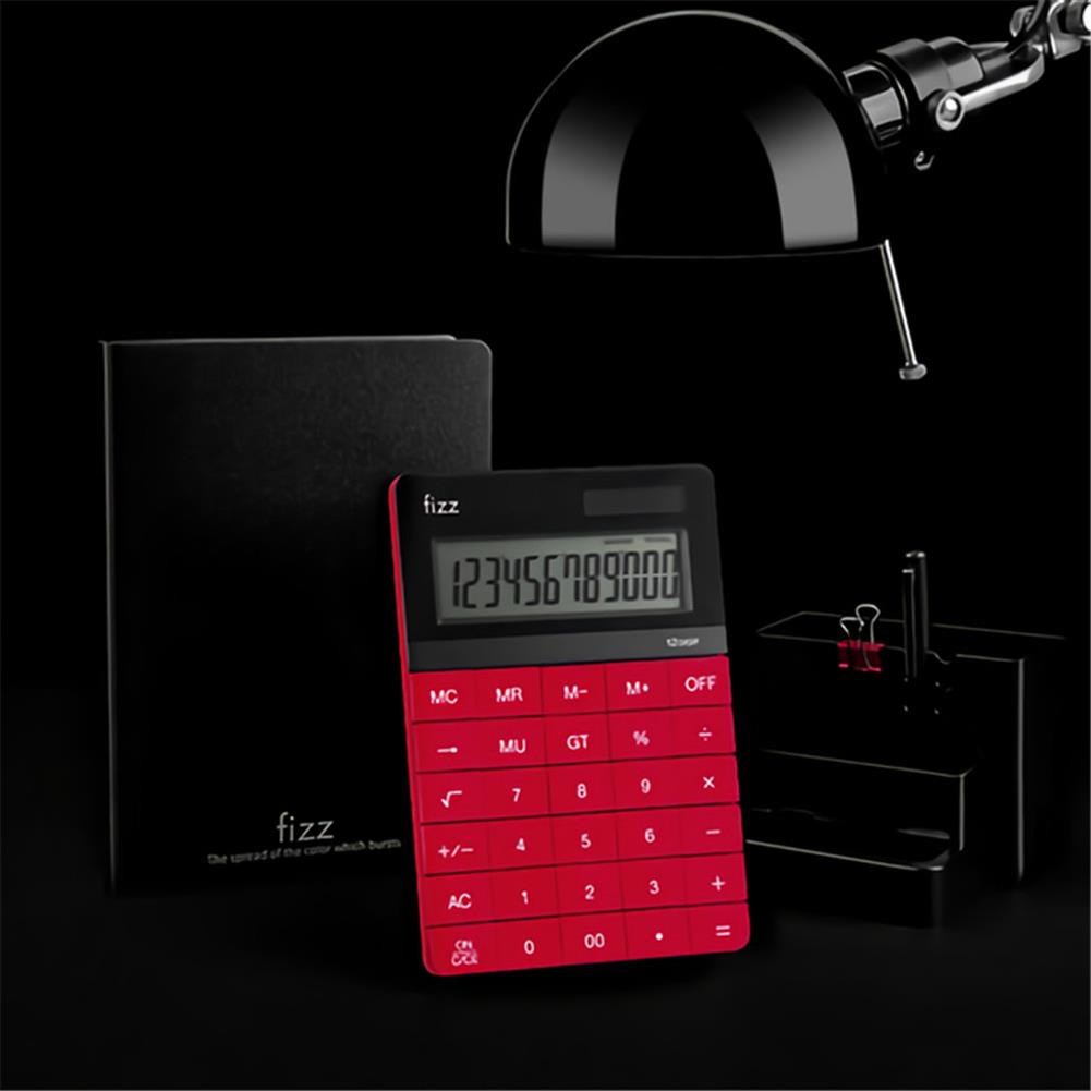 calculator [XM ]Fizz FZ66806 Calculator Double Power Desk Calculator 12 Digit Large Display Panel Button Calculator Financial office for College Students HOB1727032 2 1