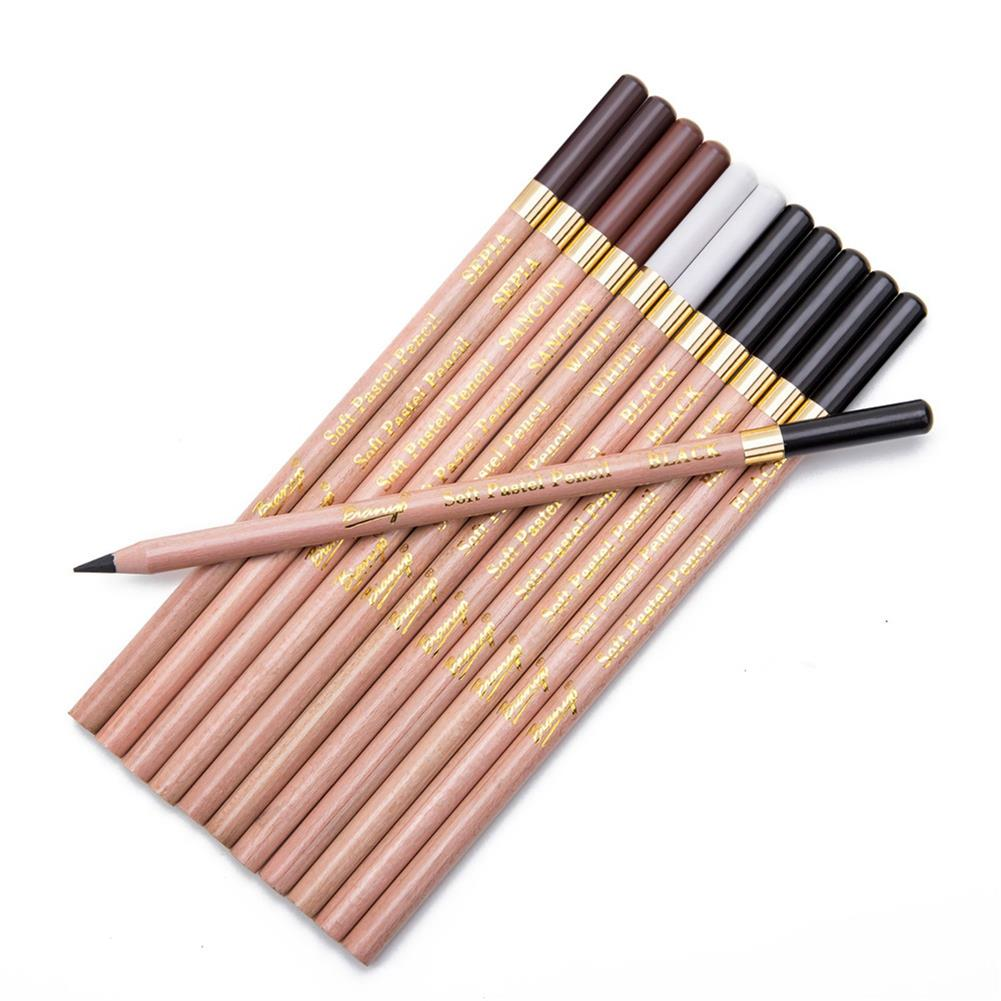 art-kit Bianyo 12Pcs Colored Pencils Painting Set Artist Student Sketch Soft Oil Pastel Set Non-toxic for School Drawing Pens Art Supplies HOB1727397 2 1